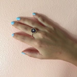 Bagatiba Jewelry - Bagatiba Blue Flower Ring